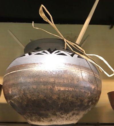 Randy Selbe Artisan Randy Selbe Black Copper Vase w/ Detailed Cut outs
