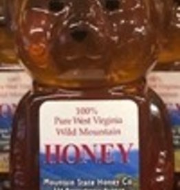 Mountain State Honey Company 12 oz. Tulip Poplar Bear WV Honey
