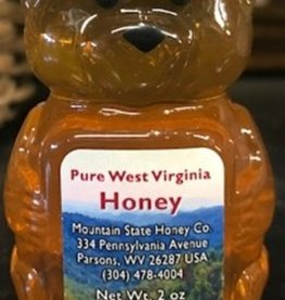 Mountain State Honey Company 2 oz. Basswood Bear WV Honey