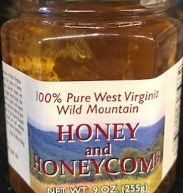 Mountain State Honey Company Honeycomb in 9 oz.  Hex Jar