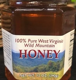 Mountain State Honey Company Mtn State Honey 12 oz. Wildflower Hex Jar