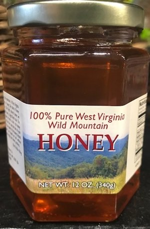 Mountain State Honey Company Mtn State Honey 12 oz. Sourwood Mix Hex Jar