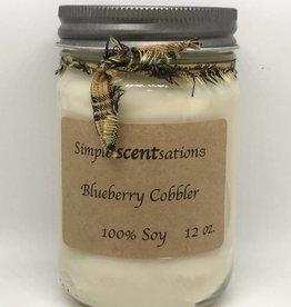 Simple Scentsation Blueberry Cobbler 12oz. Soy candles