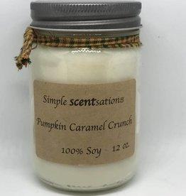 Simple Scentsation Pumpkin Caramel Crunch 12 oz Soy Candle