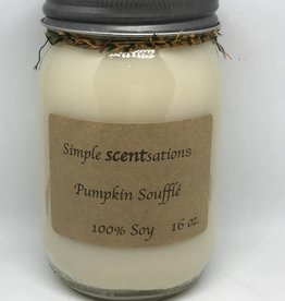 Simple Scentsation Pumpkin Souffle 16 oz Soy Candle