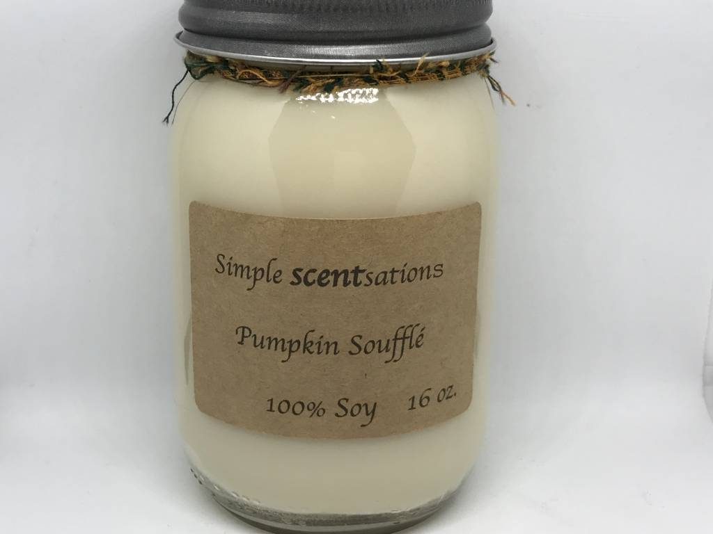 Simple Scentsation Pumpkin Souffle 16 oz Soy Candle