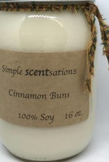 Simple Scentsation Warm Cinnamon Buns 16 oz. Soy Candle