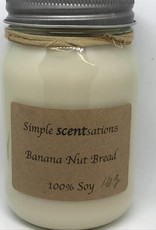 Simple Scentsation Banana Nut Bread 16 oz soy candles