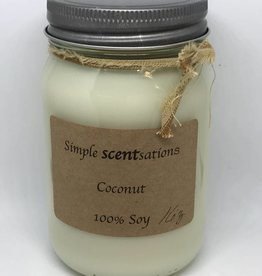 Simple Scentsation Coconut 16 oz. Soy Candle