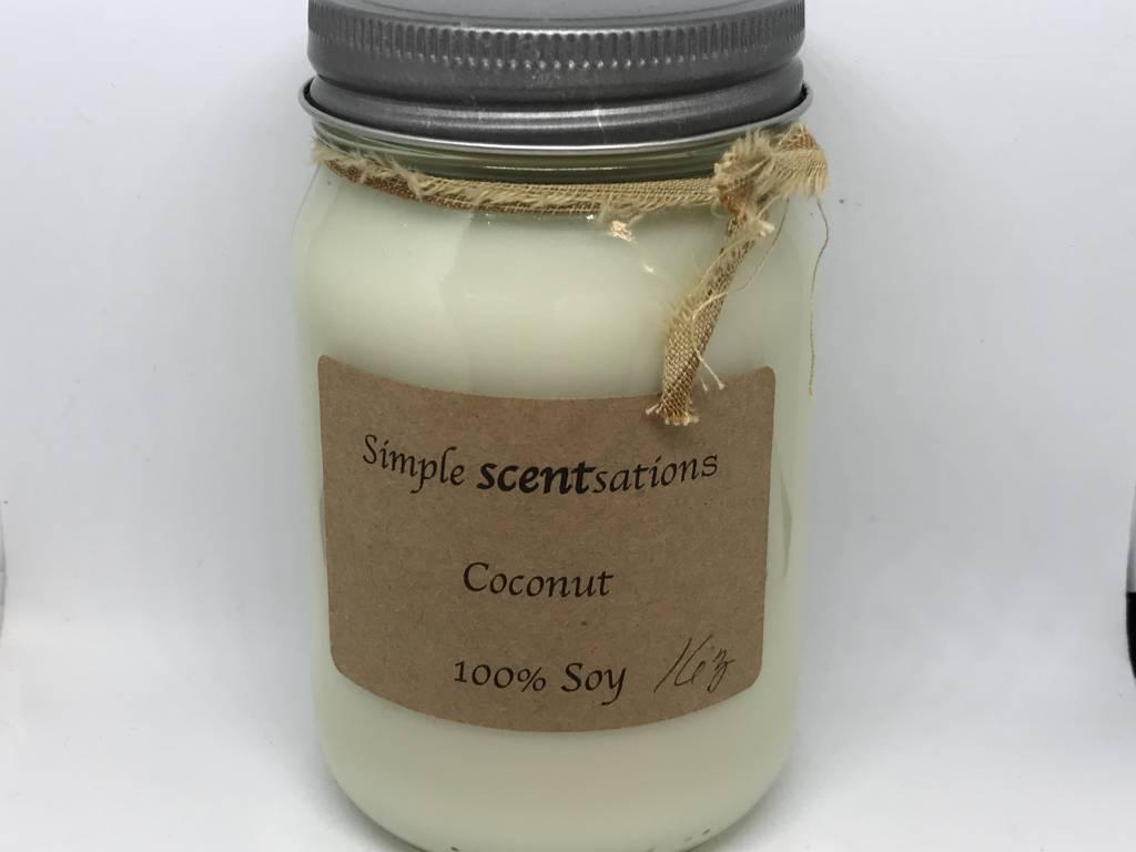 Simple Scentsation Coconut 16 oz Soy Candle