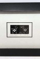 Maggi Rhudy Maggi Wood Engraving Prints Deer Tryst