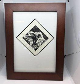Maggi Rhudy Maggi Wood Engraving Prints Hummingbird