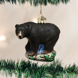 Old World Christmas BLACK BEAR ORNAMENT