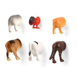 Kikkerland Farm Animal Butt Magnets