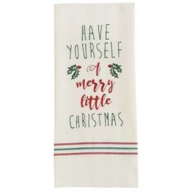 Park Designs HAVE YOURSELF A MERRY LITTLE CHRISTMAS  DISHTOWEL