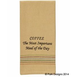 Park Designs COFFEE IS THE MOST IMPORTANT MEAL DISHTOWEL