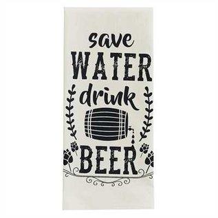 Park Designs SAVE WATER DRINK BEER DISHTOWEL