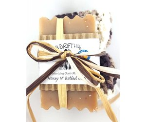 Windrift Hill Honey N Rolled Oats Soap With Cloth Flair Boutique