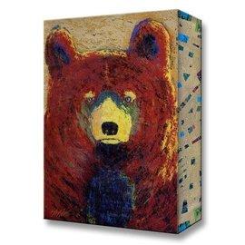 Metal Box Art Red Bear