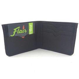 TLS Wallets Buffalo Leather Wallet Bi-fold Black