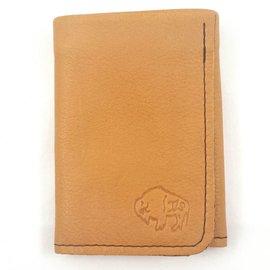 TLS Wallets Buffalo Leather Wallet - 3 pocket tri-fold Saddle