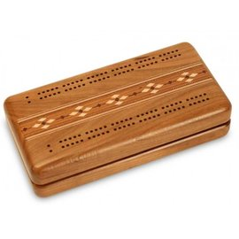 Wood crib boards & boxes Hinged Cribbage Set cherry