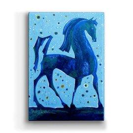 "Metal Box Art Walking Tall Horse Shelle Lindholm 18""X26"" X 3"" metal box art"
