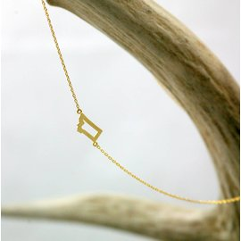 The Montana Way A 'Lil Bit of MT Necklace- Gold