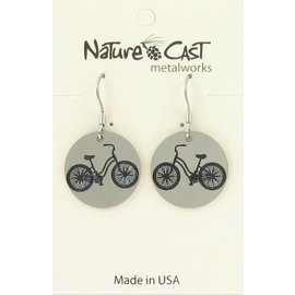 94db1417b Nature Cast vintage bicycle dangle earring