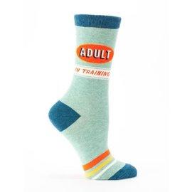 Blue Q Crew Sock - Adult in Training W