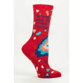 Blue Q Crew Sock - not here to make friends