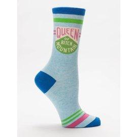 Blue Q crew sock - queen of bitch mountain