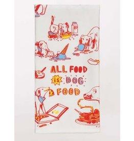 Blue Q DISHTOWEL - ALL FOOD IS DOG FOOD