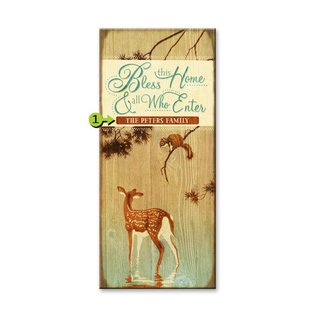 Metal Box Art Customizable Bless this Home 10.5X24 Metal or Wood