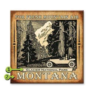 Metal Box Art Customizable, For Fresh Mountain Air  Metal or Wood