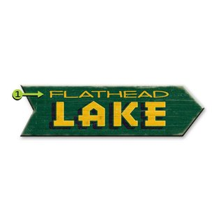 Metal Box Art Customizable, Lake Arrow, Left or Right