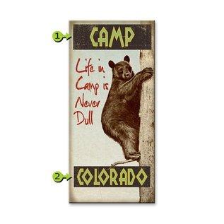 Metal Box Art Customizable, Life in Camp 14X36, Metal or Wood