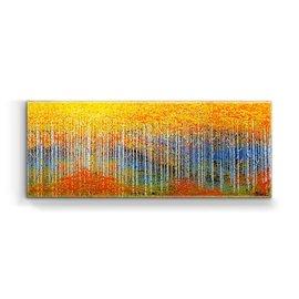 Metal Box Art Horizontal Aspens Orange