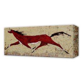 Metal Box Art Western Red Horse