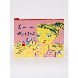 Blue Q ZIPPER POUCH - I'M AN ARTIST