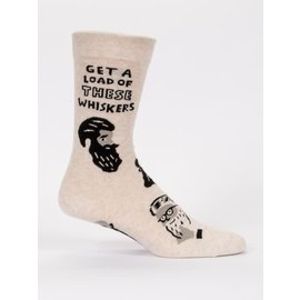 Blue Q CREW SOCK - GET A LOAD OF THESE WHISKERS