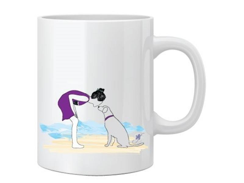 Dog On A Beach Mug