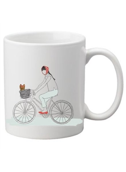 Dog On A Bike Mug