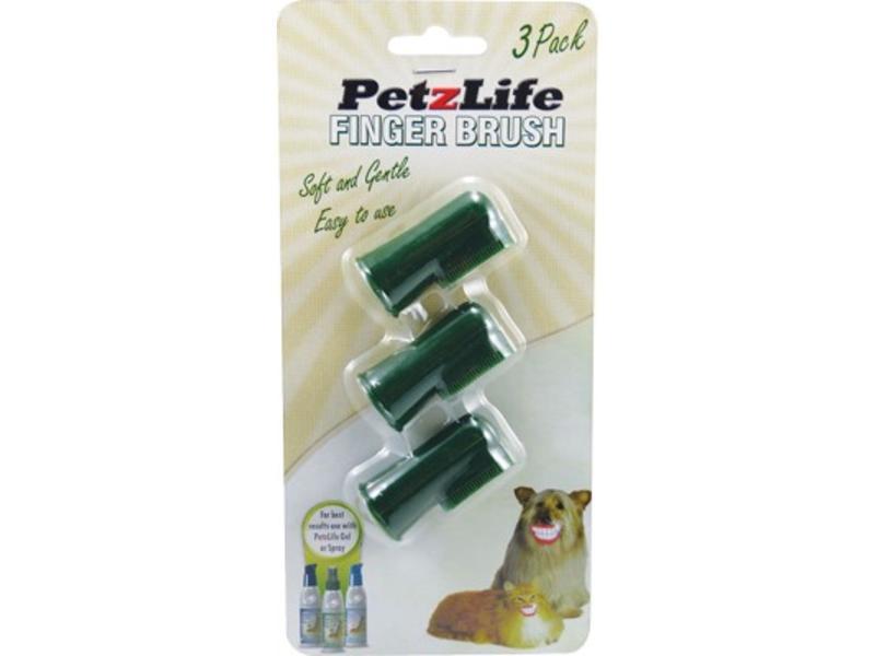 PetzLife Finger Brush, 3-pack