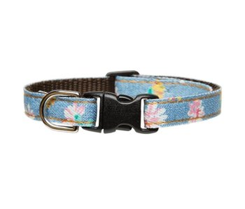 "Sweet Pickles Designs Cat Collar, ""Girl Next Door"" Denim"