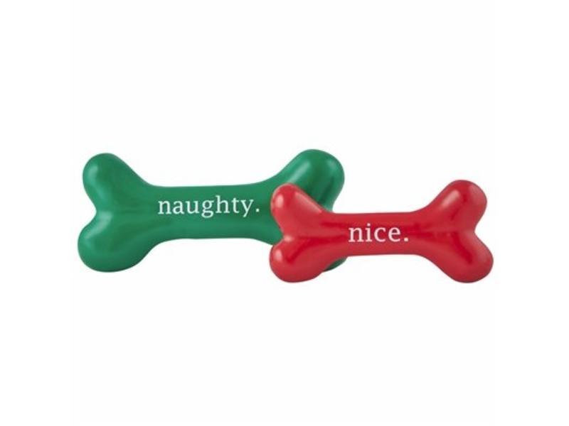 "Planet Dog Holiday ""Nice"" Bone Toy"
