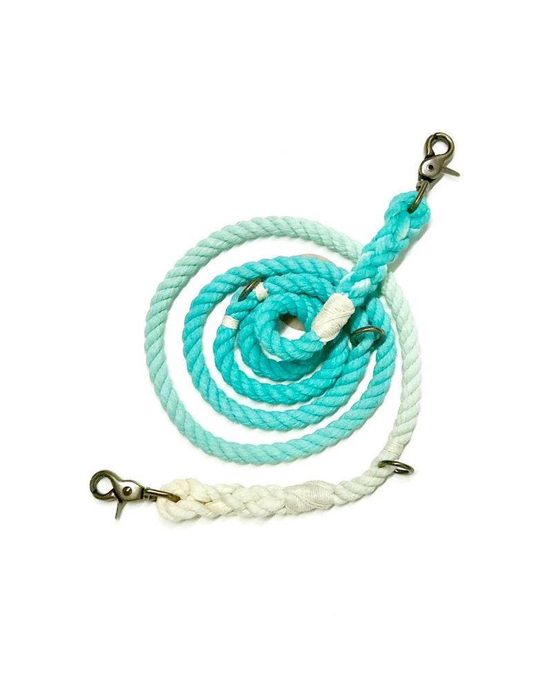 Green Trout Hands-Free Lead, Teal Ombre