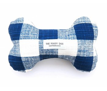 The Foggy Dog Gingham Plaid Bone Toy