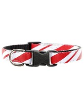 Sweet Pickles Designs Candy Cane Cat Collar