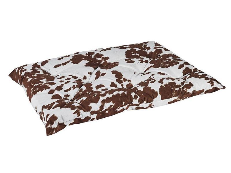 Bowsers Tufted Cushion, Cow Print